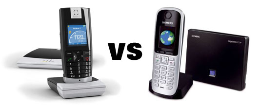 snom vs siemens DECT Wars: snom m3 vs Siemens S685IP