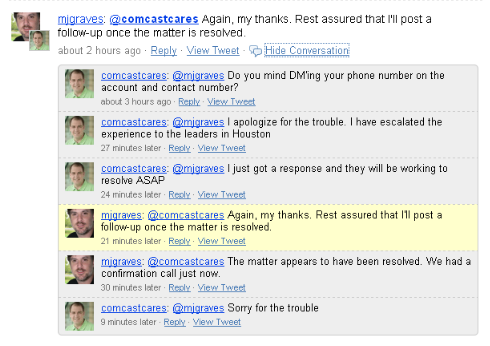 000043c1 Comcast Trouble Resolved With Help From Their Tweeple