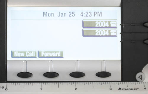 SoundPoint LCD Comparison Overlay IP450 500 Polycom Display Sizes Compared