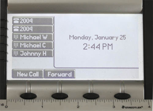 SoundPoint LCD Comparison Overlay IP650 500 Polycom Display Sizes Compared