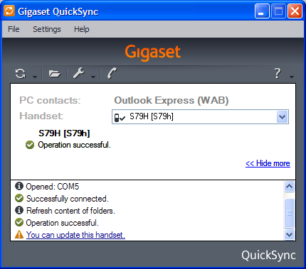 QuickSyncExample Gigaset SIP/DECT Handsets For 2010: Part 5 – S79H