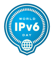 IPv6 badge blue 256 trans1 Happy World IP V6 Day!