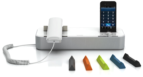 Invoxia Desk Phone 600 Invoxia NVX 610: Executive Desk Phone Powered by iOS Device