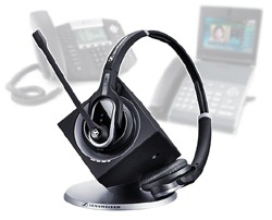 sennheiser dw pro2 and Polycom phones 250 Review: Sennheiser DW Pro2 Cordless Headset