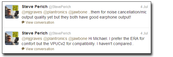 StevePerichTweetsOnBTHeadsets Deal Alert: Jawbone ERA HDVoice capable Bluetooth Headset
