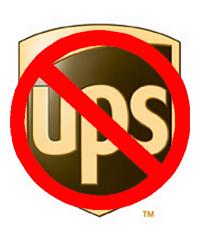 no ups logo