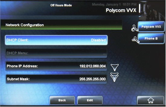 On screen network configuration