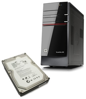 HP Pavilion HPE H8 Desktop PC & Seagate Disk