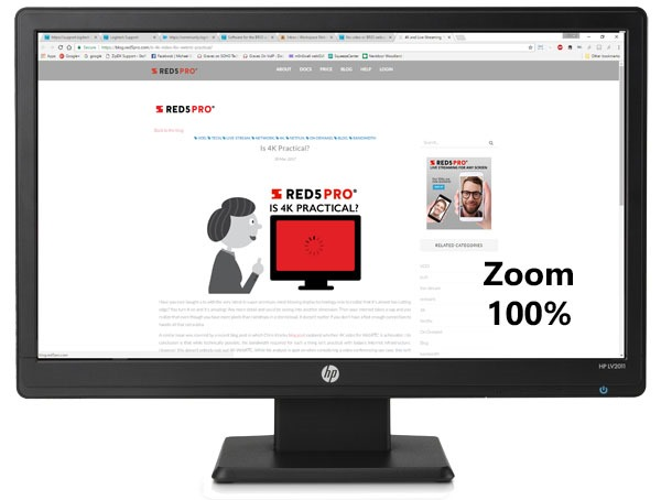 Red5Pro Blog in monitor 100