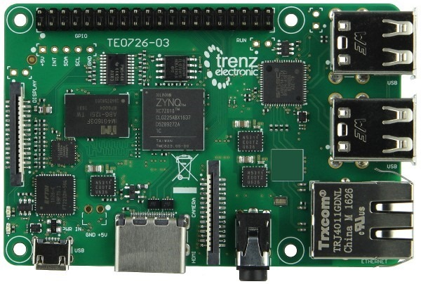 ynqBerry - Zynq-7010 in Raspberry Pi form factor TE0726-03M_1_600x600