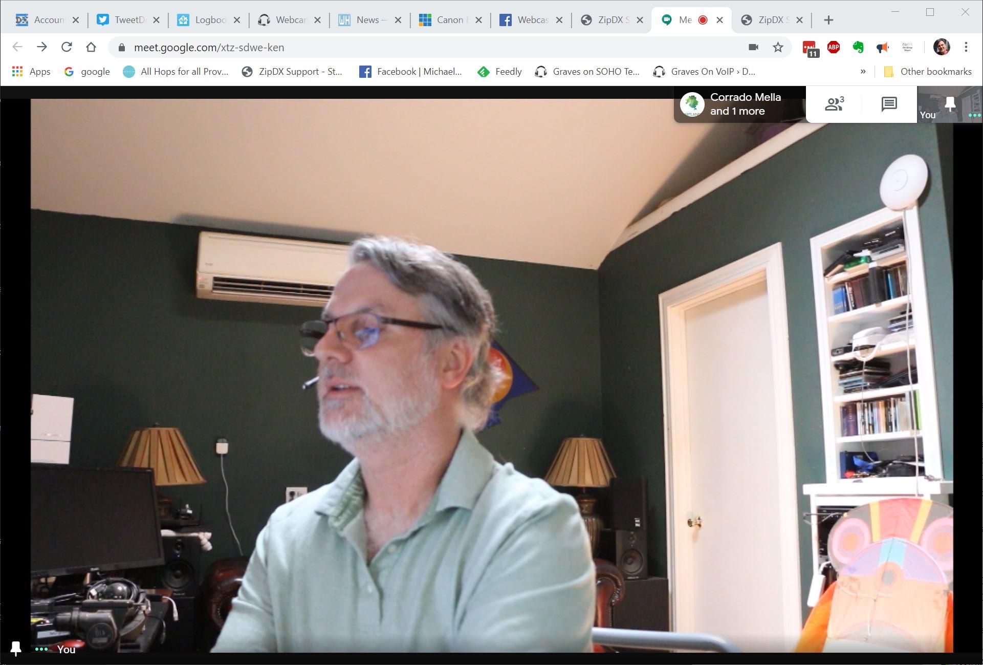 Canon 70D using Canon Webcam Utility in a Google Meet 5-1-2020