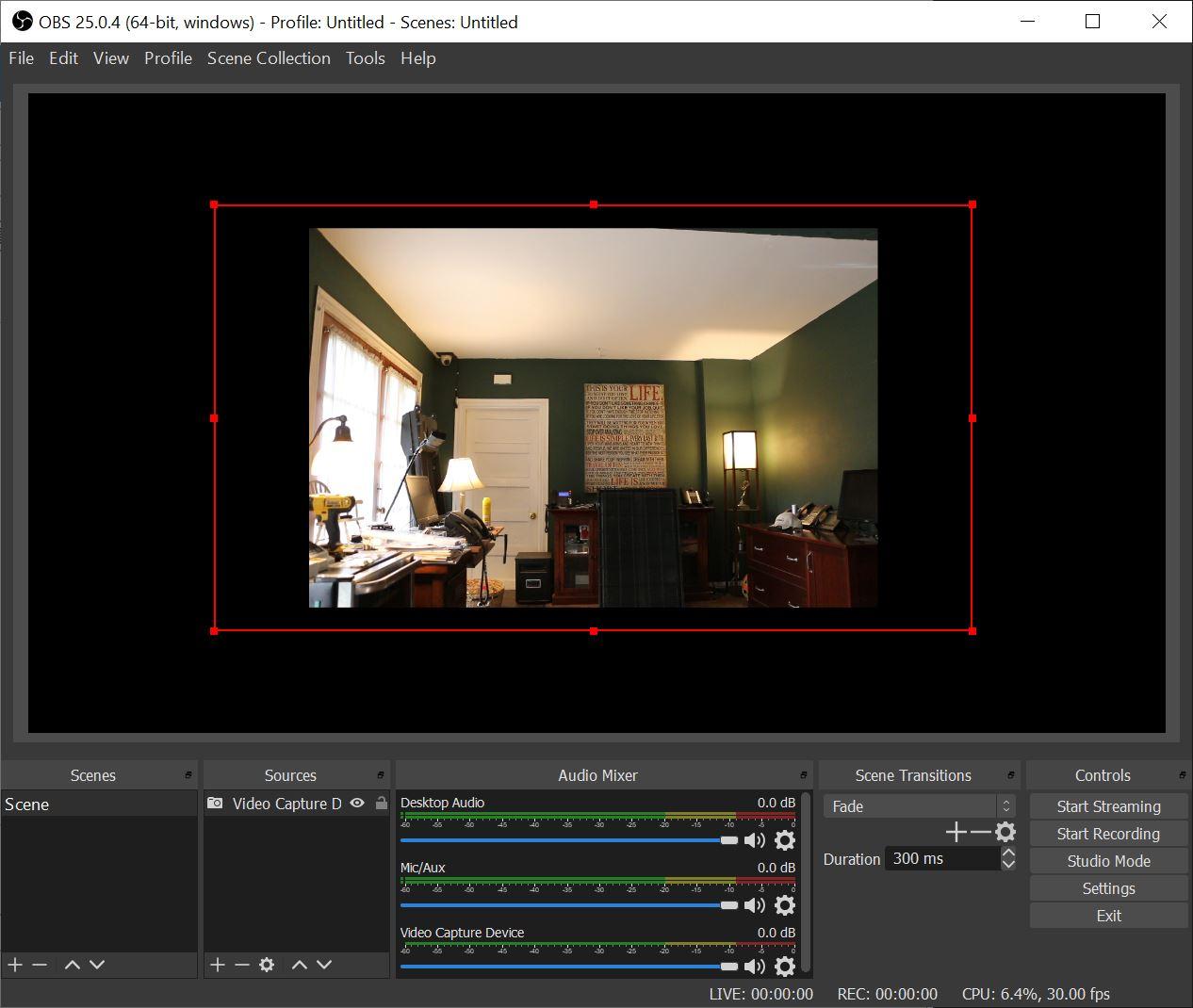 Canon 70D using Canon webcam utility beta in OBS